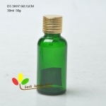 glass essential oil bottle 30ml greeen color