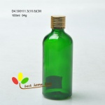 glass essential oil bottle 100ml greeen color