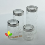 Glass storage jar set 4