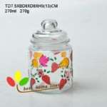 Glass jar 260 ml hand-painted