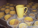 Ceramic mug yellow color