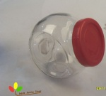 Glass  stirage jar with plastic lid