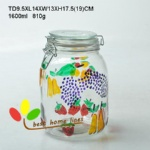 hand painted glass ebossed fruit