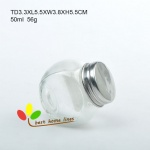 glass jar with 2 bottom 50ml 100ml 180 ml