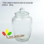Glass jar set 3 with glass lid and PE seal