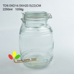 Glass huge storage jar