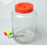 Glass jar with plastic lid 4.8L