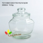 glass jar with PE ring sealing glass lid