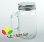 Glass mansion jar with handle 450ML